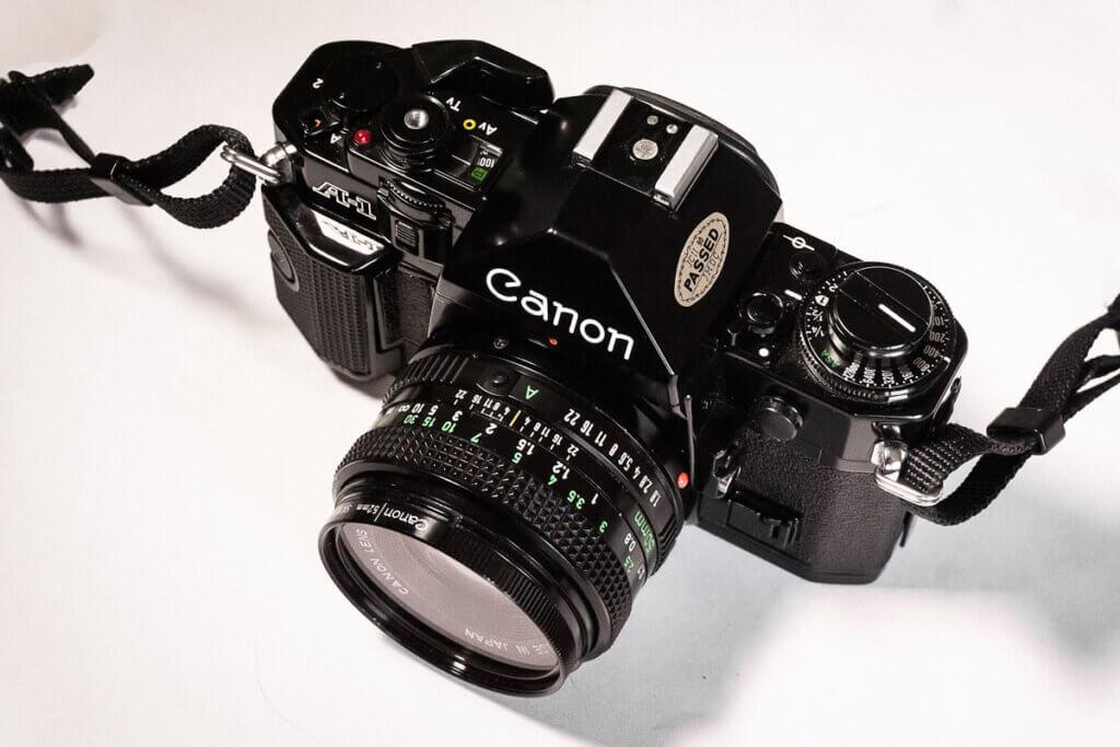 La Canon A1 SLR de 35 mm